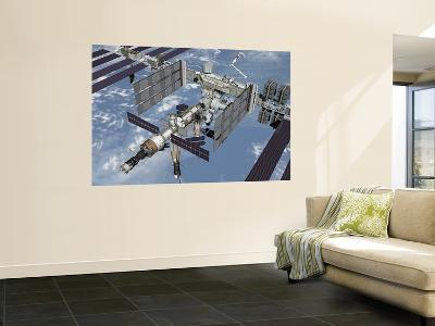 Computer Generated Image of the International Space Station--Wall Mural
