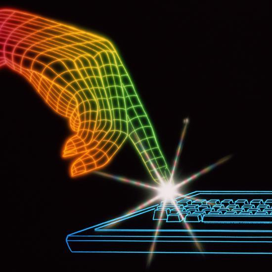 Computer Keyboard-Tony Craddock-Photographic Print