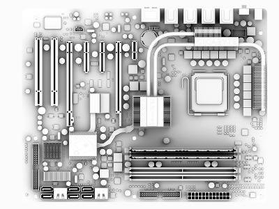 Computer Motherboard, Artwork-PASIEKA-Photographic Print