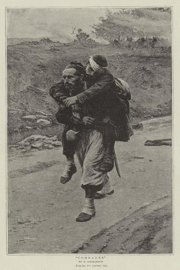Comrades-Paul Louis Narcisse Grolleron-Giclee Print