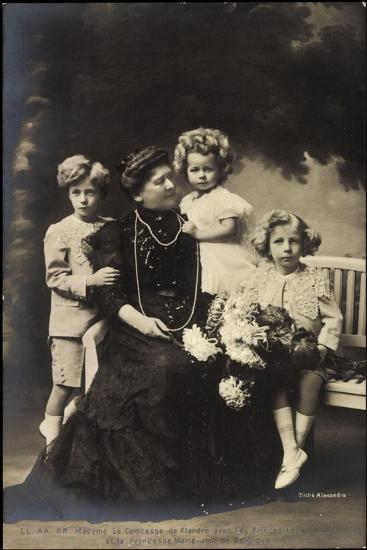 Comtesse De Flandre, Leopold, Charles, Marie Jose--Giclee Print