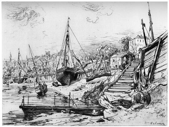 Concarneau, C1850-1895-Maxime Lalanne-Giclee Print
