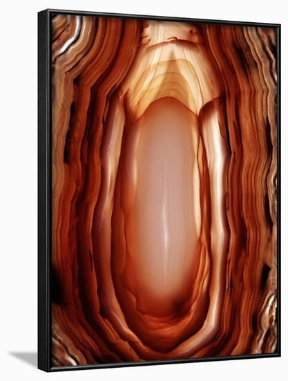 Concentric Banding In Agate-Dirk Wiersma-Framed Photographic Print