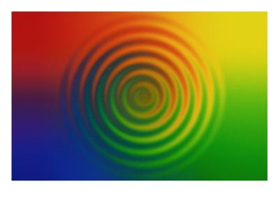Concentric Circles in Color Field--Giclee Print