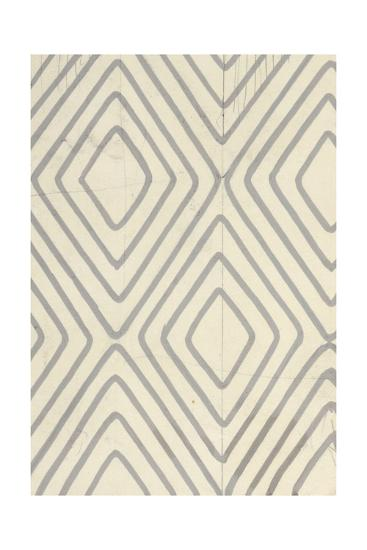 Concentric Diamonds Outlined on Ivory--Art Print