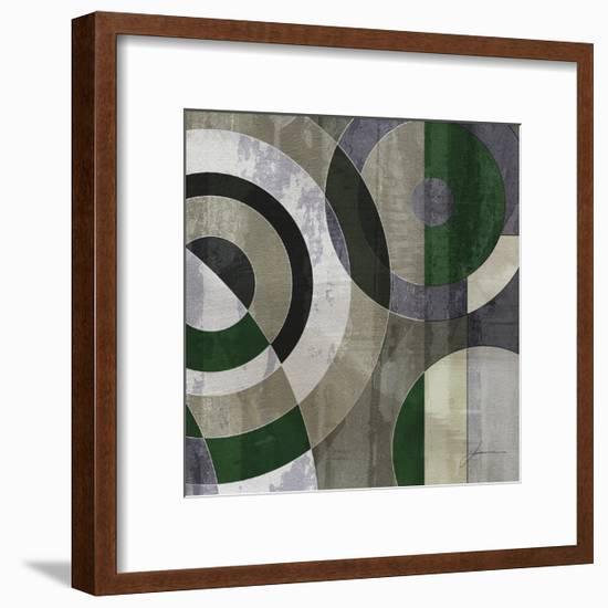 Concentric Squares IV-James Burghardt-Framed Art Print