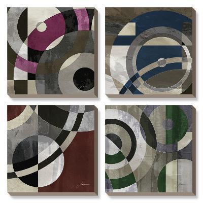 Concentric Squares-James Burghardt-Canvas Art Set
