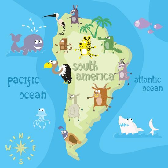 Concept Design Map of South American Continent with Animals Drawing on map of argentina, map of nicaragua, map of aruba, map of belize, map of united states, map of paraguay, map of middle east, map of costa rica, map of guatemala, map of western hemisphere, map of the americas, map of dominican republic, map of bahamas, map of ecuador, map of caribbean, map of venezuela, map of honduras, map of guyana, map of bolivia, map of antarctica,