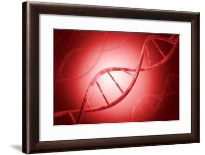Conceptual Image of Dna--Framed Art Print