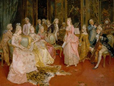 Concert at the Time of Mozart, 1853-Ettore Simonetti-Giclee Print