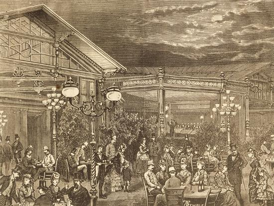 Concert at Volksgarten in Vienna, Austria19th Century Engraving--Giclee Print