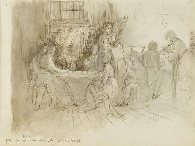 Concert en appartement-Edgar Degas-Giclee Print