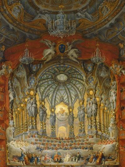 Concert Given by Cardinal De La Rochefoucauld at the Argentina Theatre in Rome-Giovanni Paolo Pannini-Giclee Print