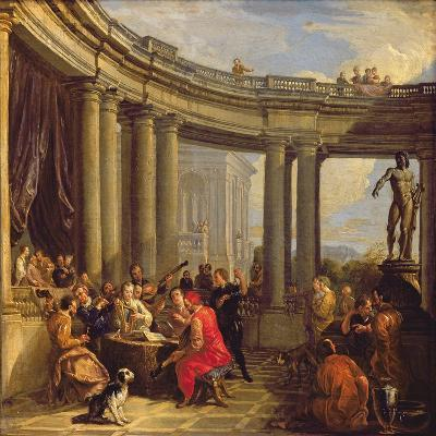Concert in a Circular Gallery, c.1718-19-Giovanni Paolo Pannini-Giclee Print