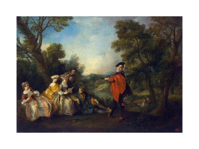 Concert in the Park, 1720-1743-Nicolas Lancret-Giclee Print