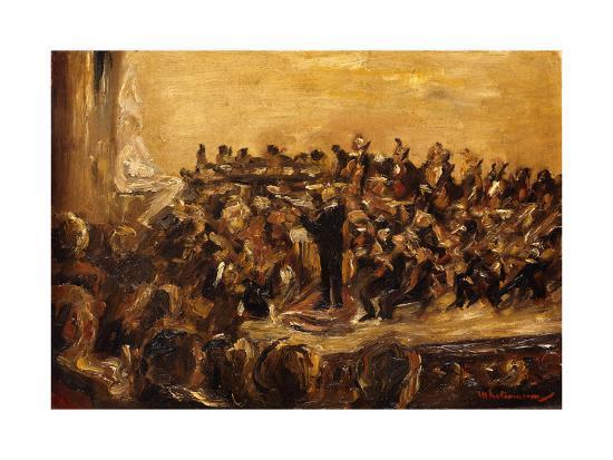 Concert in the Staatsoper, Unter den Linden, Berlin-Max Liebermann-Giclee Print