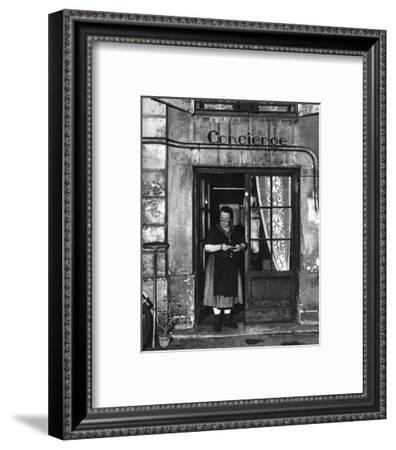 Concierge with Spectacles-Robert Doisneau-Framed Art Print