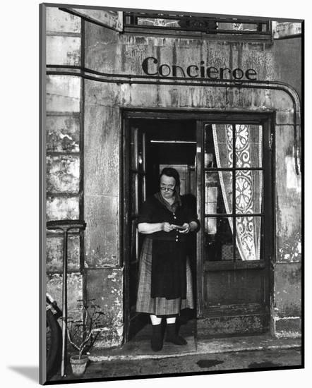 Concierge with Spectacles-Robert Doisneau-Mounted Art Print