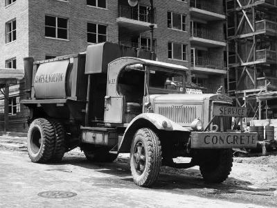 Concrete Truck on Site of Construction-George Marks-Photographic Print