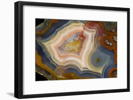 Condor Agate with Fortifcations-Darrell Gulin-Framed Photographic Print