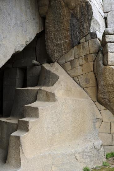 Condor Temple, Machu Picchu, Peru-Matthew Oldfield-Photographic Print