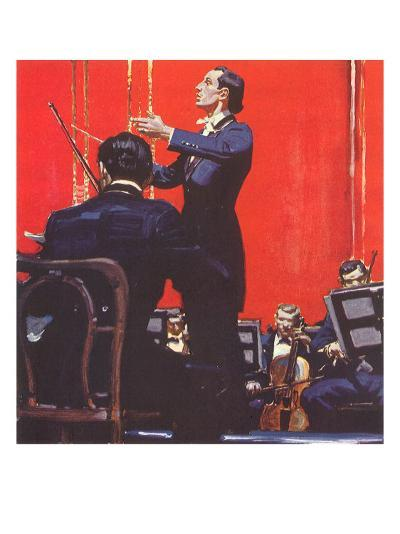 Conducting Orchestra-Mead Schaeffer-Giclee Print