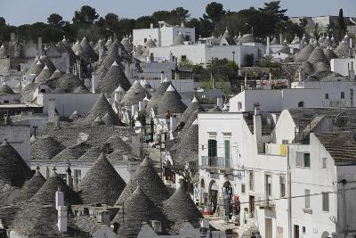 Cone-Roofed Trulli Houses on the Rione Monte District, Alberobello, Apulia, Italy-Stuart Forster-Photographic Print