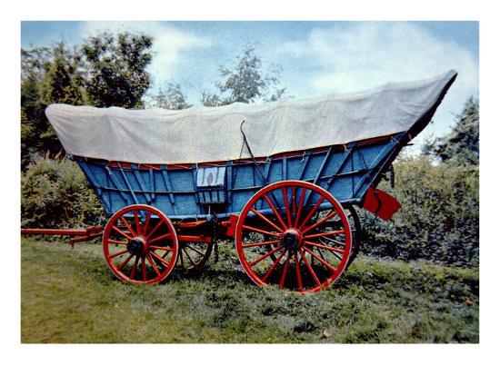 Conestoga Wagon-American School-Giclee Print
