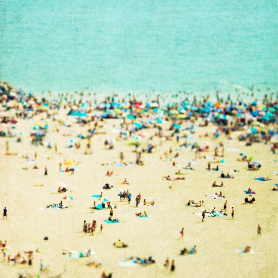 Coney Island Beach1-Mina Teslaru-Art Print