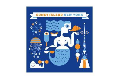 Coney Island Mermaid-Melinda Beck-Art Print