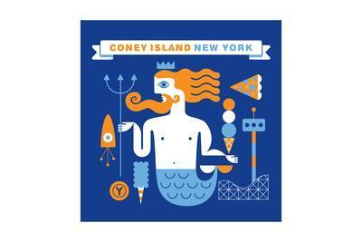 Coney Island Merman-Melinda Beck-Art Print