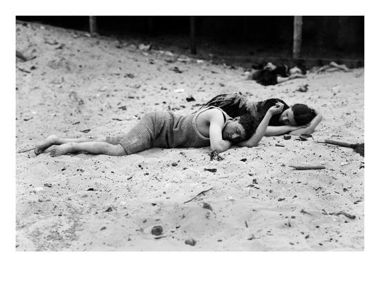 Coney Island: Sleeping--Giclee Print
