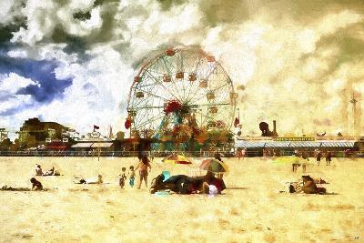 Coney Island Summer Beach-Philippe Hugonnard-Giclee Print