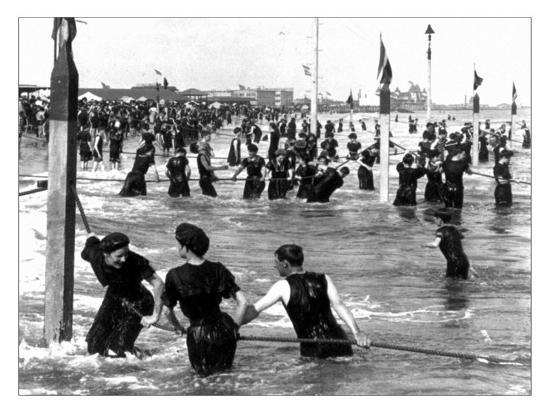 Coney Island Surf Crowd-William H. Rau-Photo