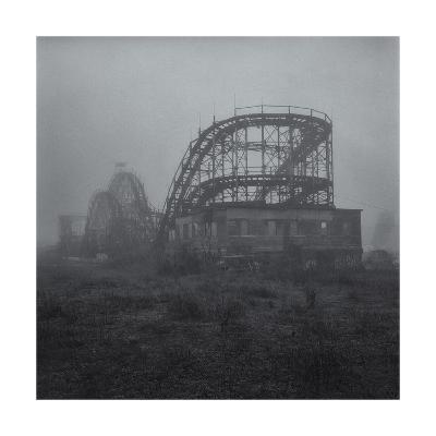 Coney Island Thunderbolt Ride Fog 3-Henri Silberman-Photographic Print