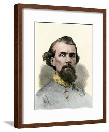 Confederate General Nathan Bedford Forrest in the Civil War--Framed Giclee Print