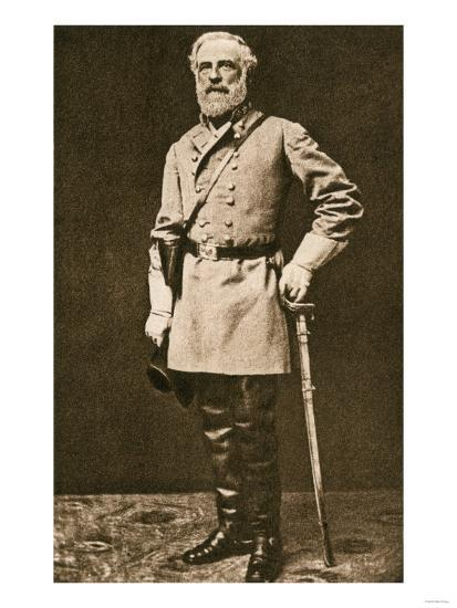 Confederate General Robert E Lee In 1862 Or 1863 Giclee