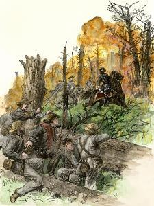 Confederate General Stonewall Jackson Mortally Wounded at the Battle of Chancellorsville, c.1863