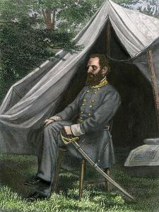 Confederate General Thomas J. (Stonewall) Jackson at His Field Headquarters, Civil War