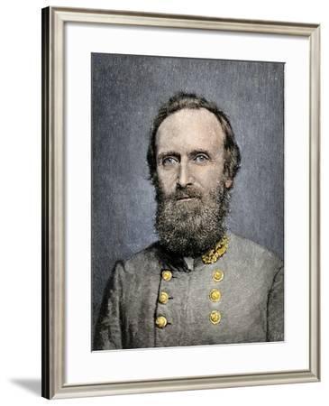 Confederate General Thomas Jackson--Framed Giclee Print