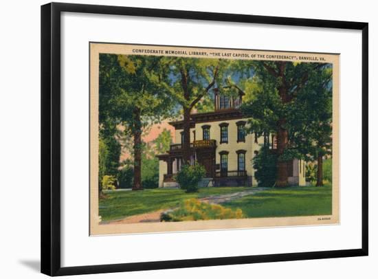 Confederate Memorial Library, Danville, Virginia, 1938--Framed Giclee Print