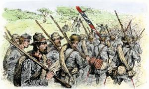 Confederate Troops on the March, American Civil War