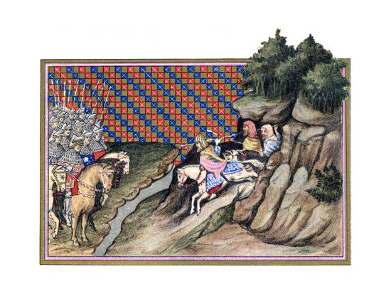 Conference of the Earl of Gloucester and an Irish Chief, Richard Ii's Campagne in Ireland, 1399--Giclee Print