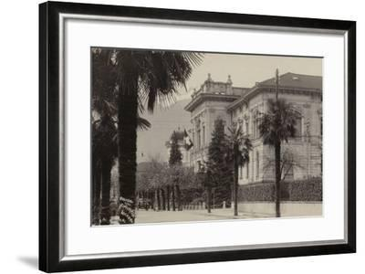 Conference Palace Where the Locarno Treaty Was Signed in 1925--Framed Photographic Print