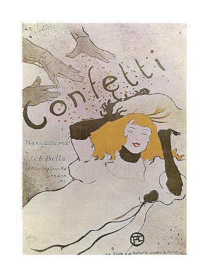 Confetti, 1893-Henri de Toulouse-Lautrec-Giclee Print