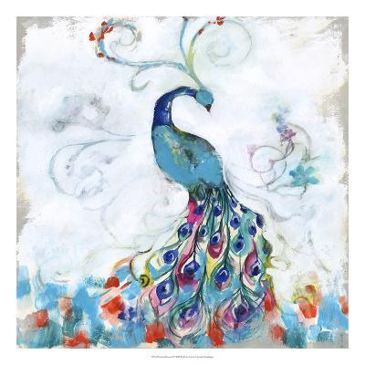 Confetti Peacock I-Jennifer Goldberger-Premium Giclee Print