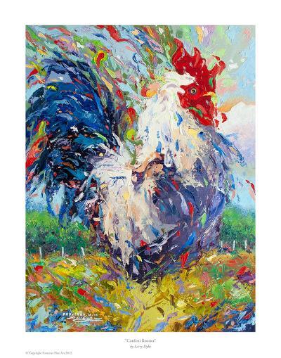 Confetti Rooster-Larry Dyke-Art Print