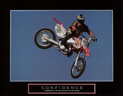 Confidence – Motorbiker-Unknown-Art Print