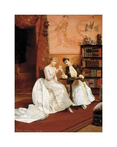 Confidences, 1889-Georges Croegaert-Premium Giclee Print
