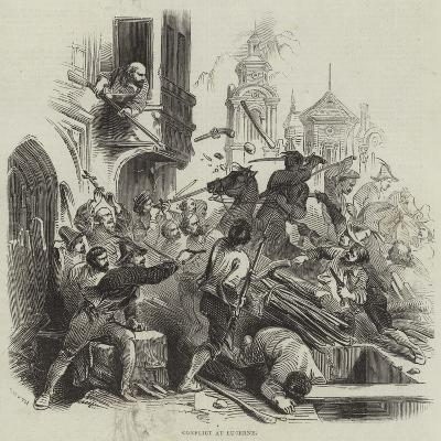Conflict at Lucerne--Giclee Print